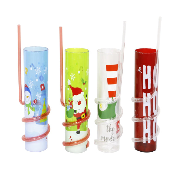 Tumbler with Spiral Straw - 400mL