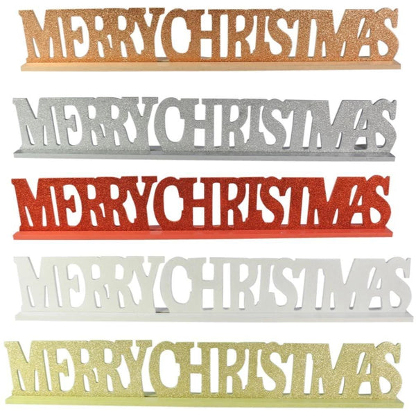 Glittering Merry Christmas Sign
