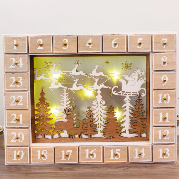 LED Vintage Advent Calendar Lightbox