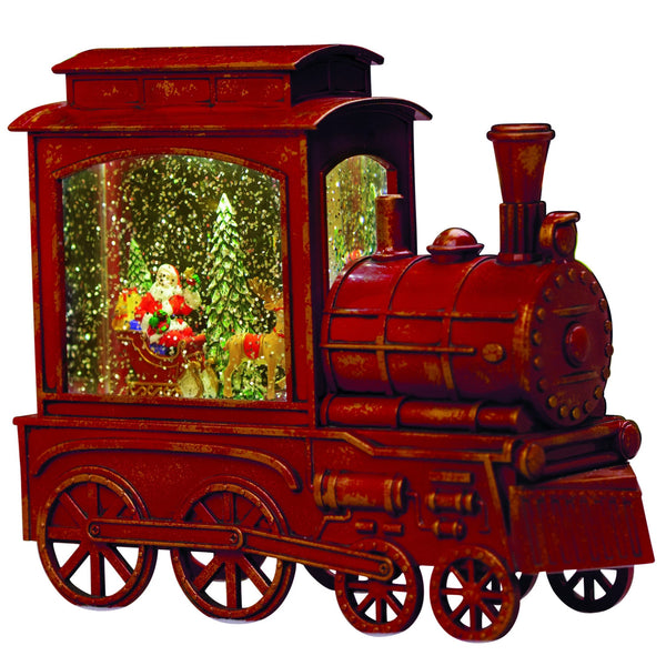 Snowglobe Train Engine with Sleigh