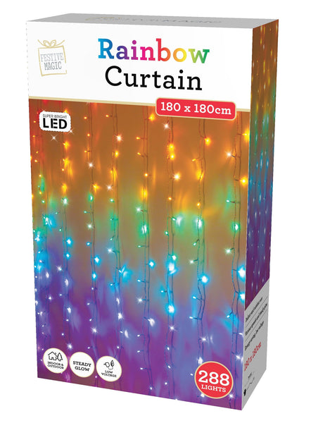 LED Multicolour Curtain Lights
