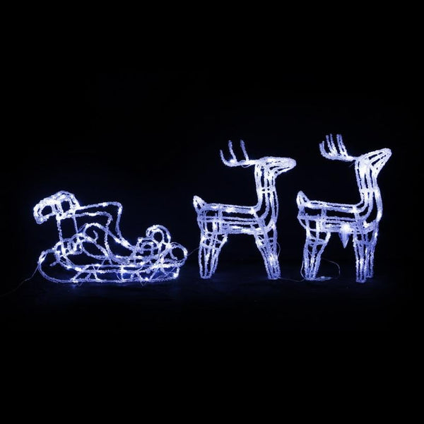 LED Acrylic Reindeer and Sleigh