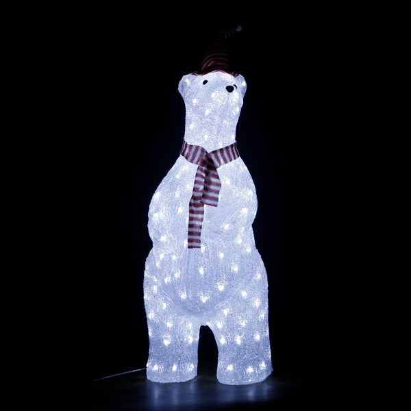 BACK IN STOCK!!!  LED Acrylic Standing Polar Bear 70cm