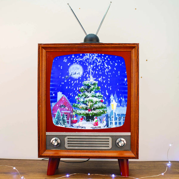 Snowing Musical Retro Television - 53cm