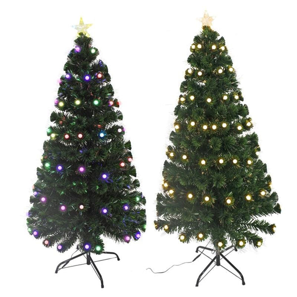 LED Flash Ball Fibreoptic Tree - 150cm