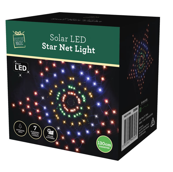 SOLAR LED STAR NET 130cm 3 ASSORTMENTS