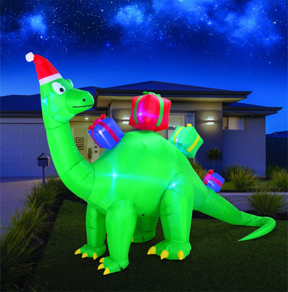 Airpower Dinosaur with Flashing Presents - 340cm