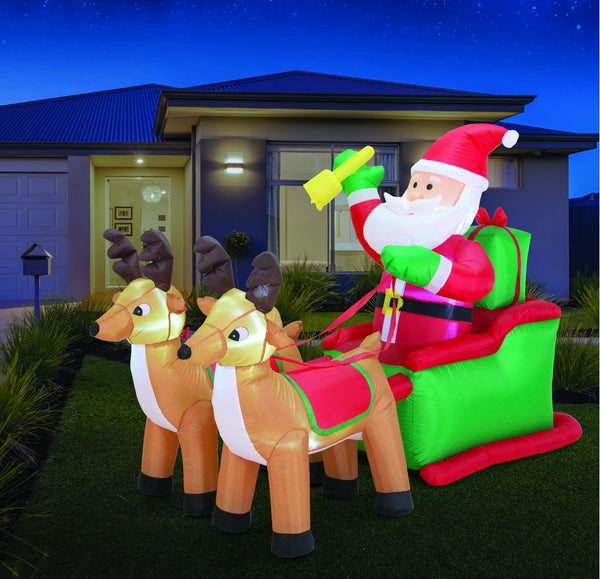 Airpower Santa Sleigh with 2 Reindeer