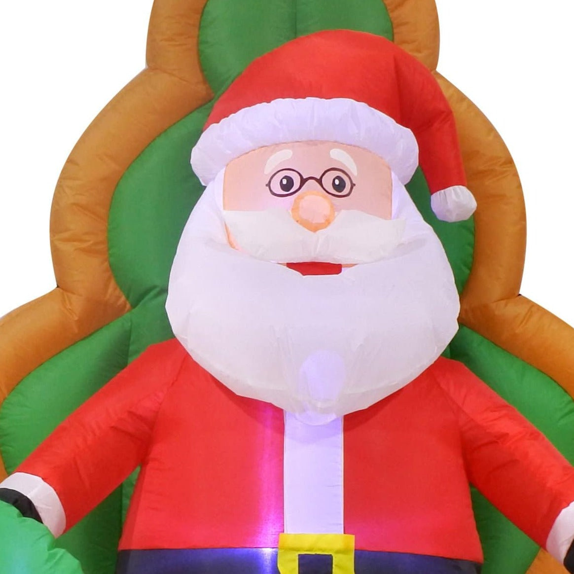 Airpower Santa on Chair with Elf