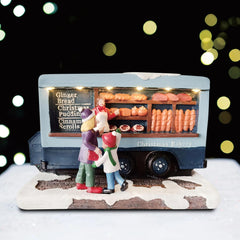 Battery Operated Christmas Village Shop Stand