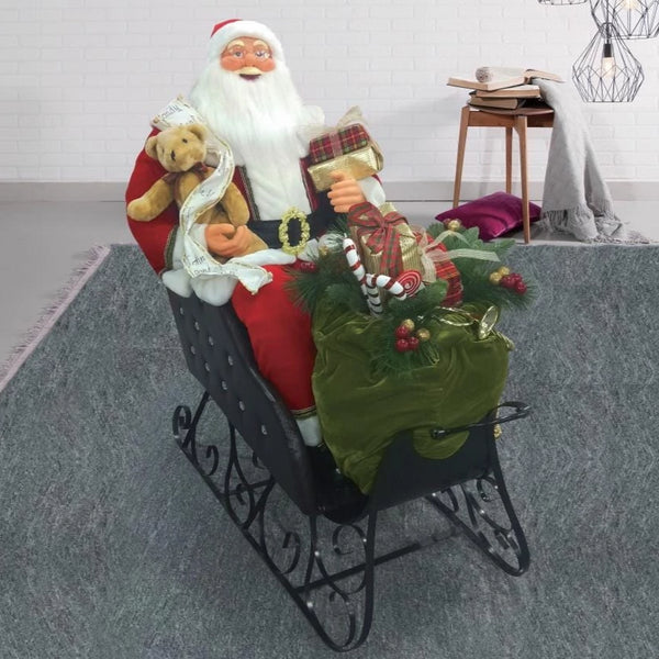 Singing Santa in Sleigh - 150cm