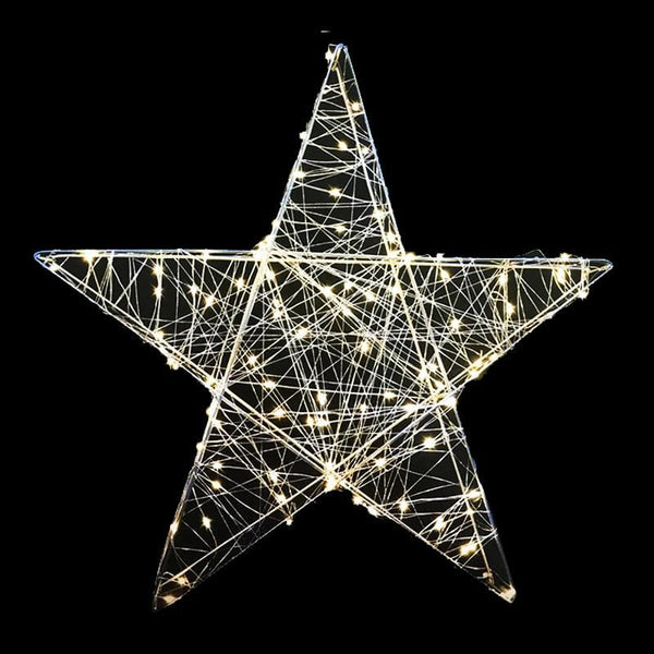 Warm White LED Wire Star