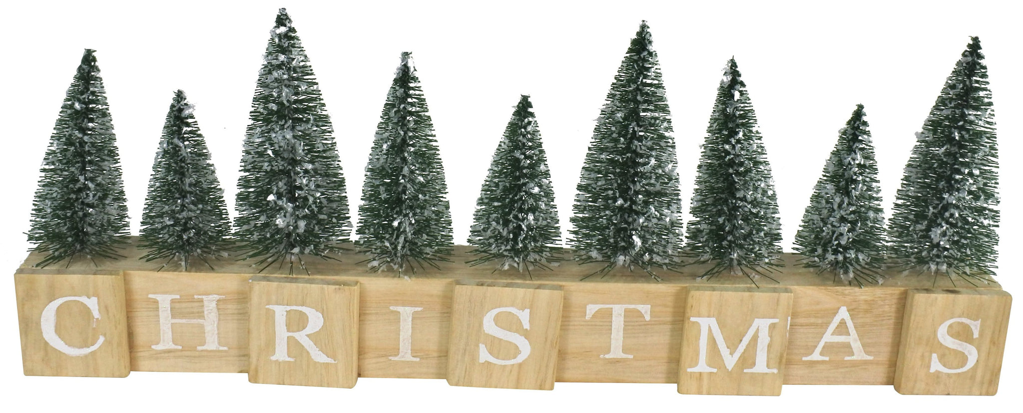 GLITTER CHRISTMAS SIGN WITH TREES
