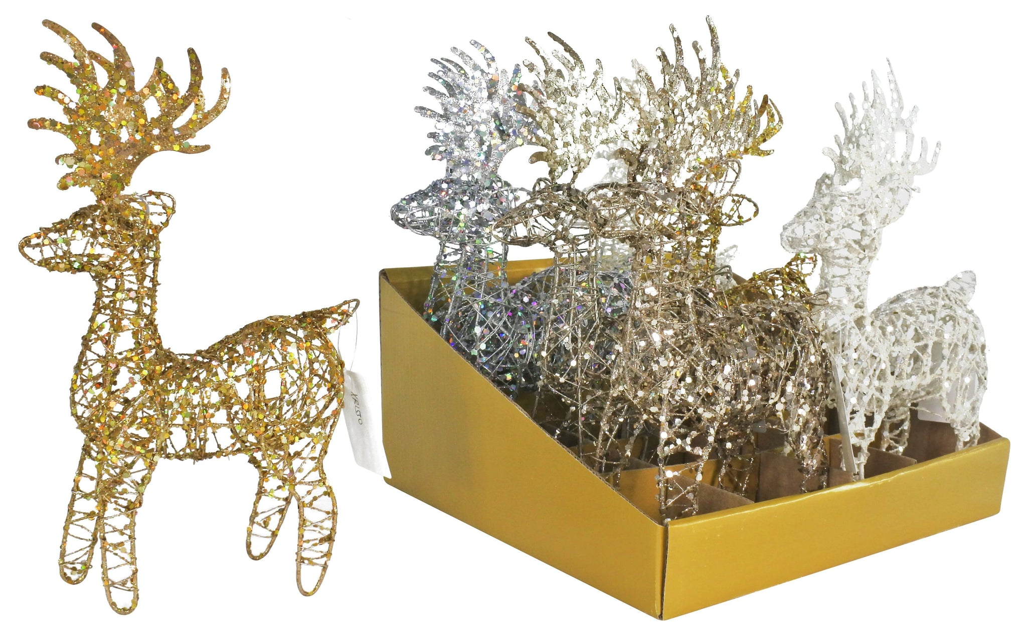 GLITTER WIRE REINDEER 4 COLOURS