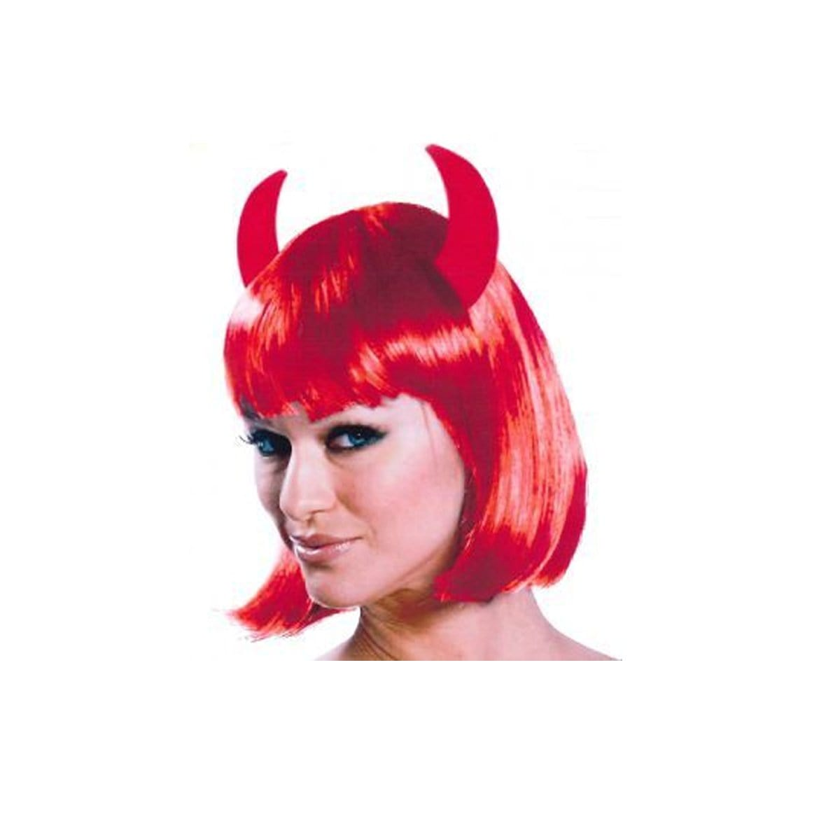 HALLOWEEN RED DEVIL WIG - Christmas World