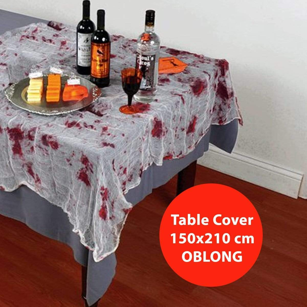BLOODY GAUZE TABLECOVER 150x210 cm - Christmas World