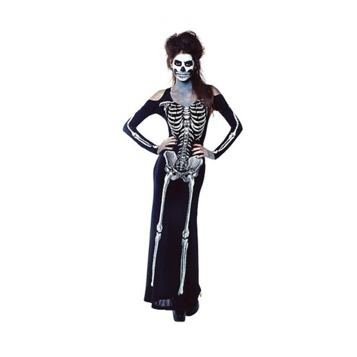 COSTUME SKELETON DRESS LADIES - Christmas World