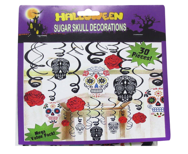 DAY OF THE DEAD HANGING DECORATION 30PCS - Christmas World
