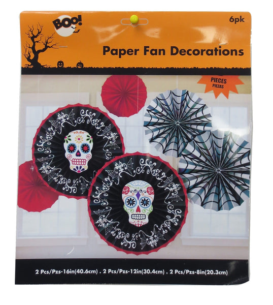 DAY OF THE DEAD PAPER FAN DECORATIONS - Christmas World