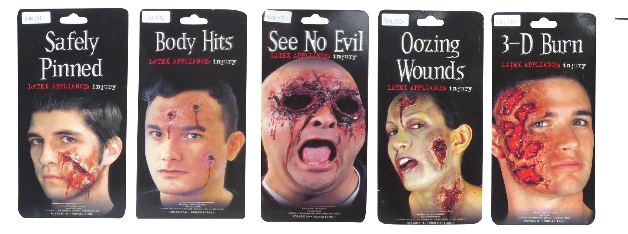 FACE SCAR STICKERS ASST - Christmas World