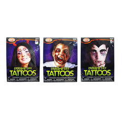 COSTUME FACE TATTOOS ASSORTED - Christmas World