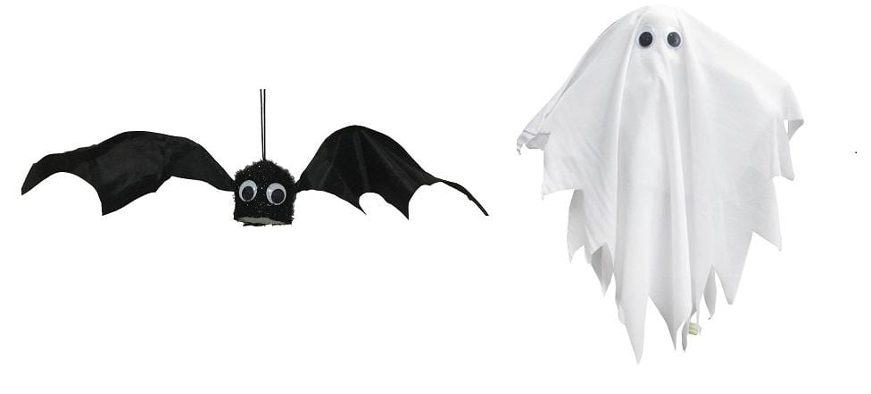 H'WEEN BLACK SHAKING BAT & GHOST - Christmas World