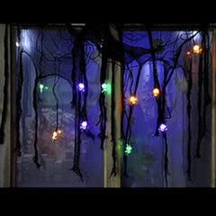 HALLOWEEN HANGING LIGHTUP SPIDERS IN WEB - Christmas World