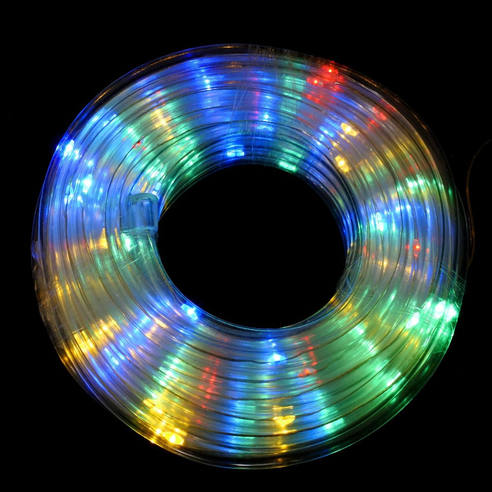 SOLAR LED ROPELIGHT MULTI COLOURED 10M