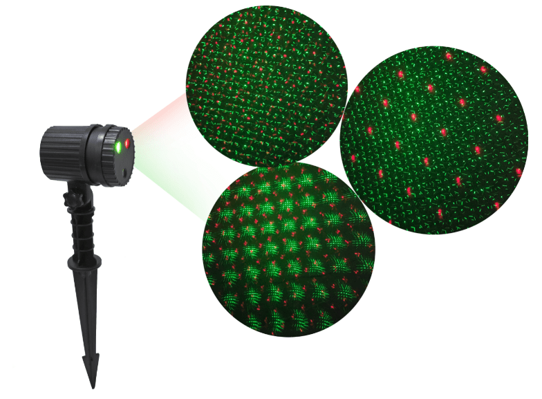 LED LASER PROJECTOR RED-GREEN DOTS