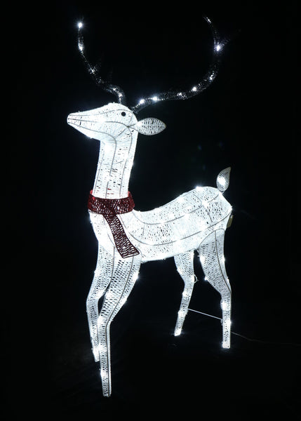LED Glitter Thread Reindeer Twinkle Large