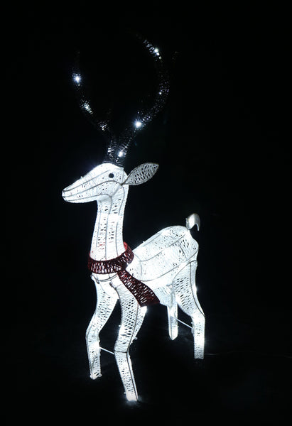 LEd Glitter Thread Reindeer Twinkle Small