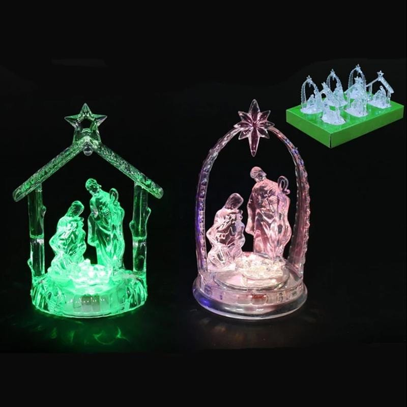 Mini Light-Up Nativity Scene