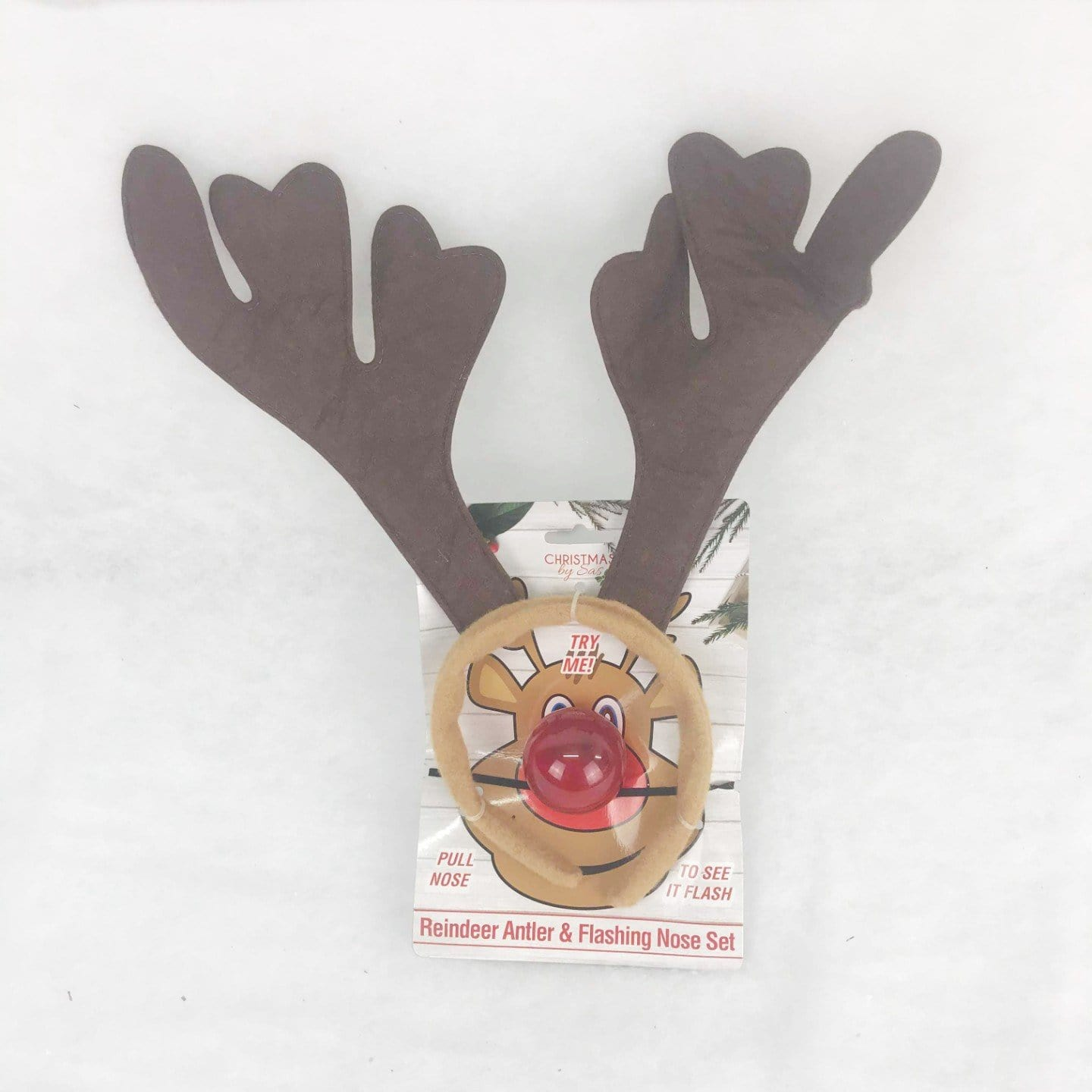 Reindeer Antler with Flashing Nose Set