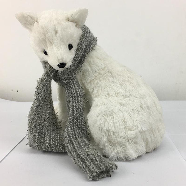Vintage Seated Polar Bear Cub - 25cm