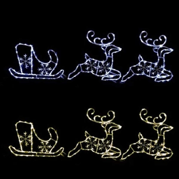 LED Colour Changing Acrylic Sleigh