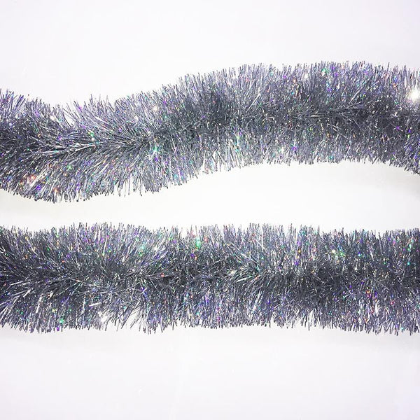 Holographic Silver Tinsel - 2m