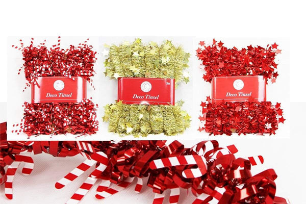 3M Tinsel With Die Cut Decoration - Christmas World