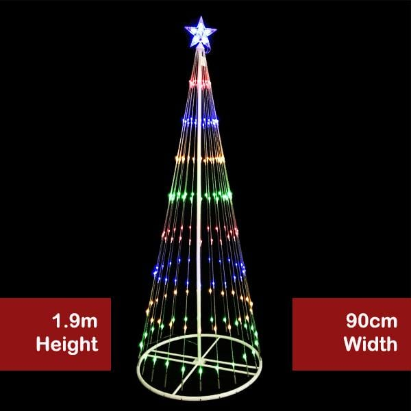 LED DIGITAL STRANDS TREE SMALL MULTI