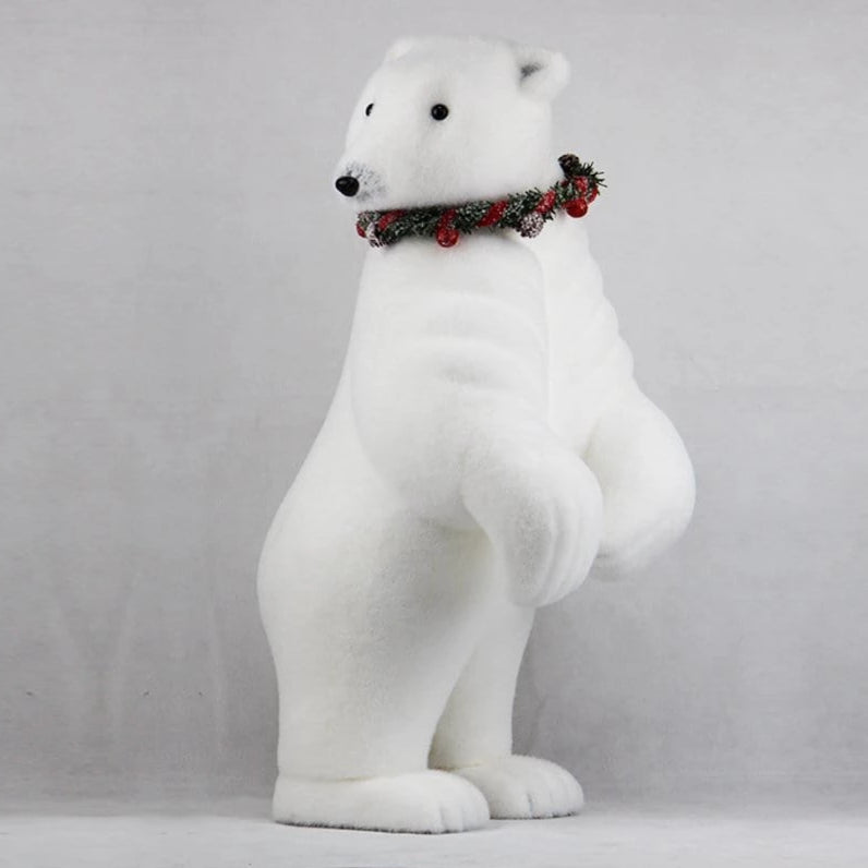POLAR BEAR WITH CHRISTMAS COLLAR 70cm