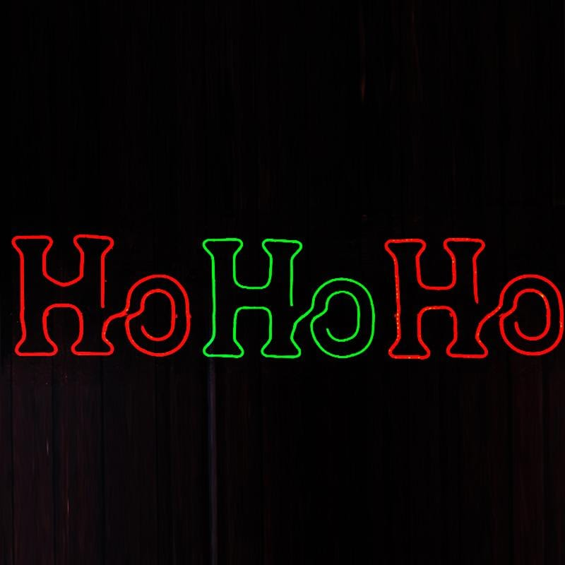 LED 'Ho Ho Ho' Neon Sign