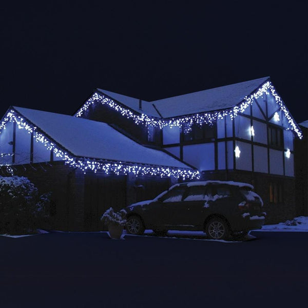 600 LED Iclicle Lights 30M - White - Christmas World