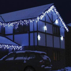 200 LED Icicle Lights - White - 10 meters