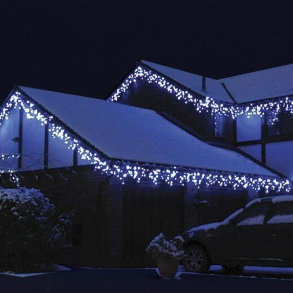 400 LED Icicle Lights 20M - White - Christmas World