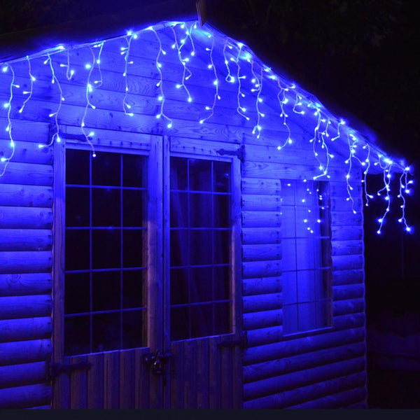 200 LED Icicle Lights 10M - Blue - Christmas World