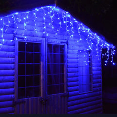 600 LED Icicle Lights 30M - Blue