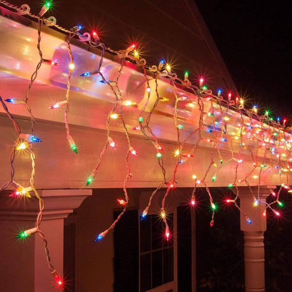400 LED Icicle Lights - Multi Colour - 20M - Christmas World