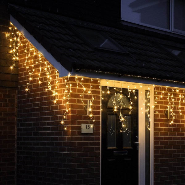 200 LED Icicle Lights - Warm White - 10 meters