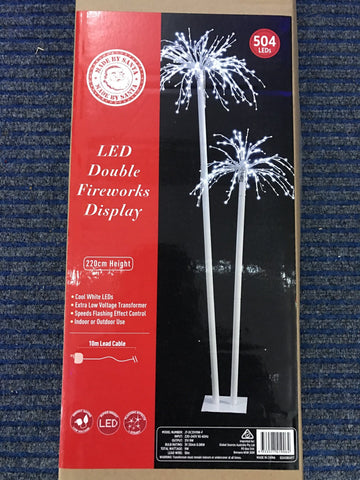 LED Double Fireworks Display Palm Tree 2.2m
