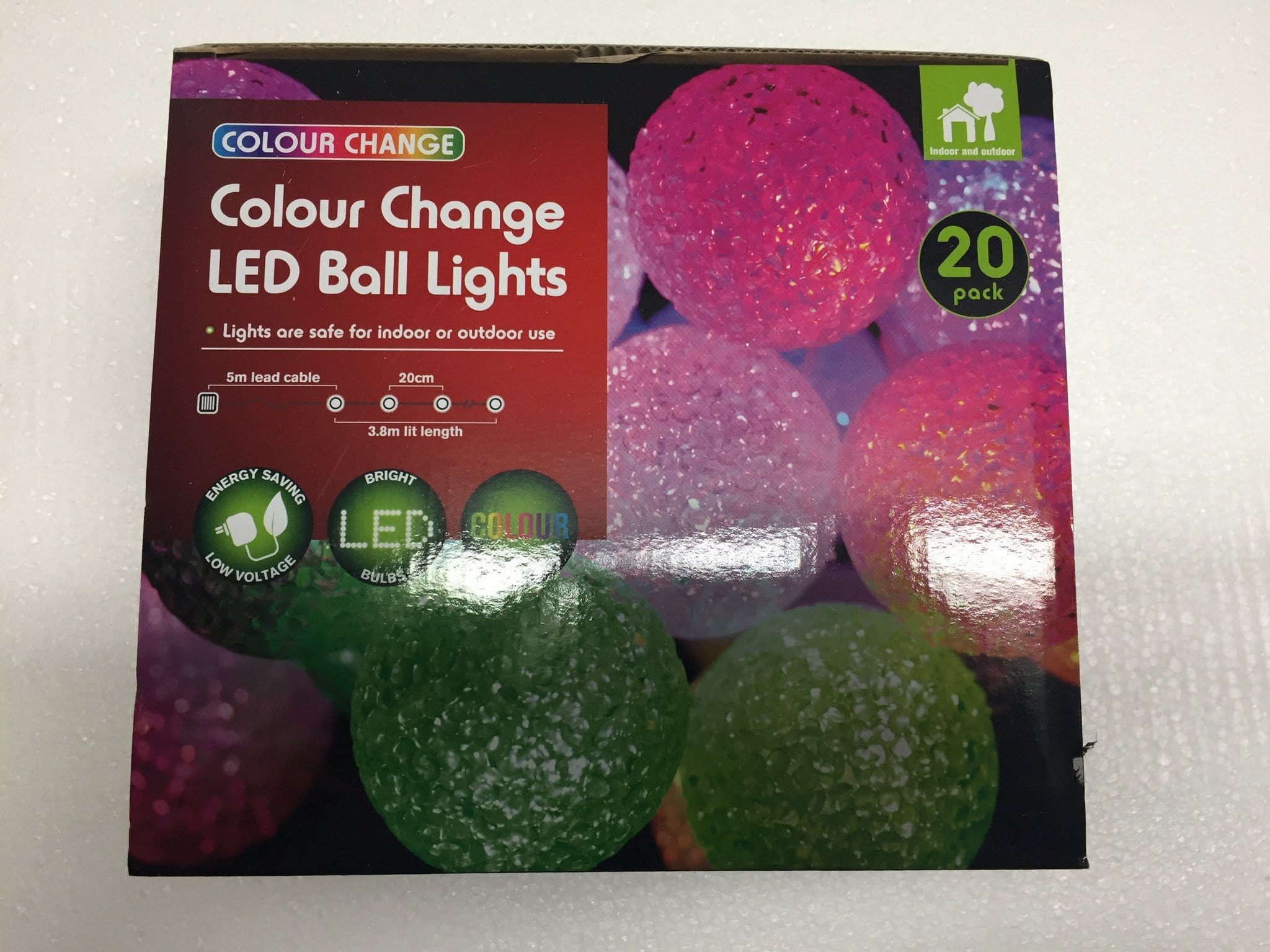 Colour Change LED Ball Lights - 20 Pack - Christmas World