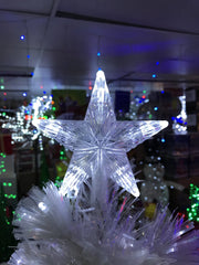 1.8M White FIBREOPTIC Christmas Tree - Christmas World